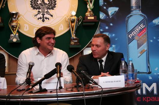 """Останнім часом Олексій Савченко (ліворуч) більш відомий як народний депутат від """"Блоку Петра Порошенка"""". Поряд з ним горілчаний магнат Павло Климець."""