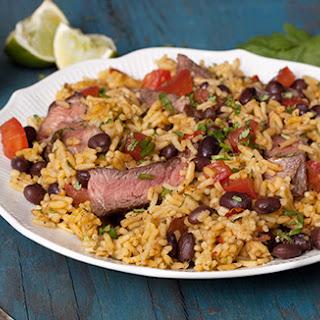 Southwest Steak & Rice/Steak & Fajita Rice with Black Bean & Corn Salsa.