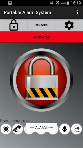 Anti Theft - Alarm System - screenshot