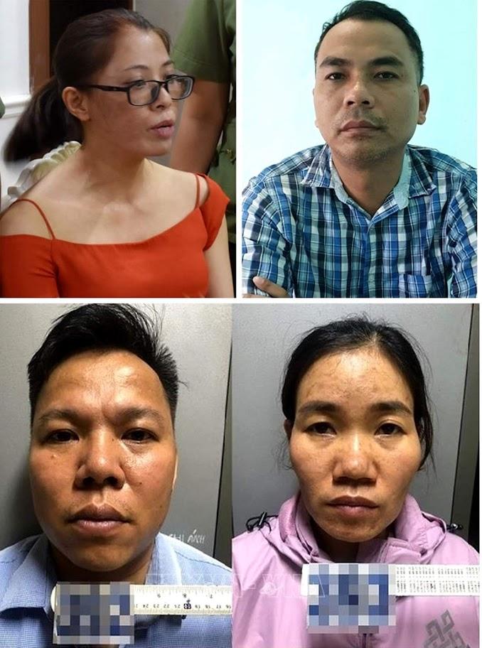 4 đối tượng Hương, Sơn, Luận, Lụa lừa đảo XKLĐ  nhằm vào nạn nhân là người Nghệ An vừa bị bắt giữ