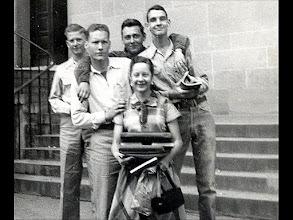 Photo: ____, Patrick Alonzo Tillery, Ernest Lloyd (Zeke) Hunt + 2 Need names Need dates