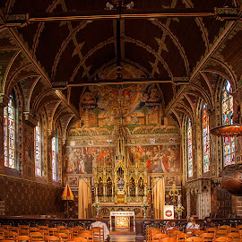 Basilica of the Holy Blood, Brugge. by Simon Page - Buildings & Architecture Places of Worship