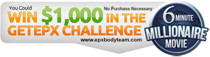 Photo: EPX Body $1000 millionaire movie banner
