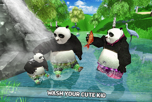 Wild Panda Family: Kung Fu Jungle Survival apktram screenshots 1