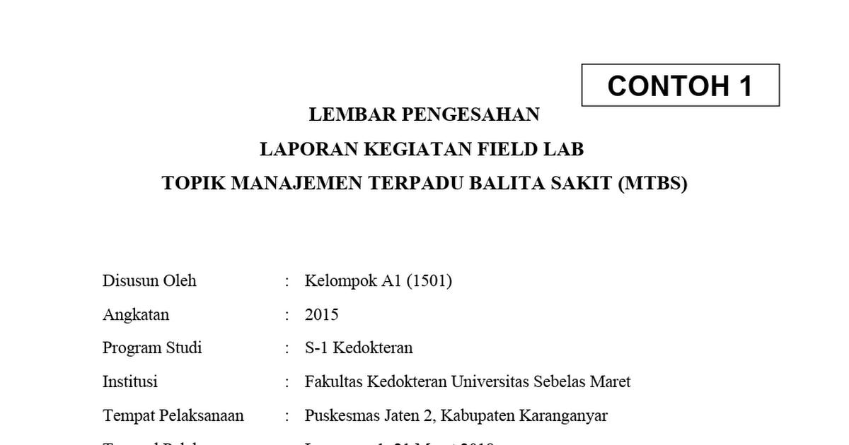 Format Lembar Pengesahan L Fieldlabfkuns Field Lab S Tweet