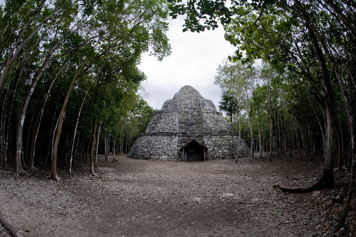 Yes, you can climb the pyramid at Cobá, one of few structures left where the practice is not prohibited. But bring a rain poncho if visiting during the rainy season. Short but drenching downpours occur daily.