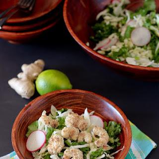 Crunchy Kale Salad Recipe with Popcorn Sprimp