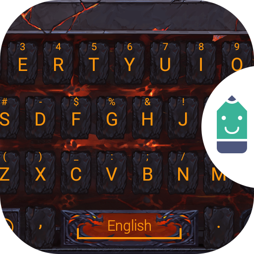 Lava Dragon Theme Keyboard