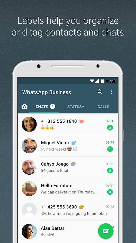 WhatsApp Business screenshots