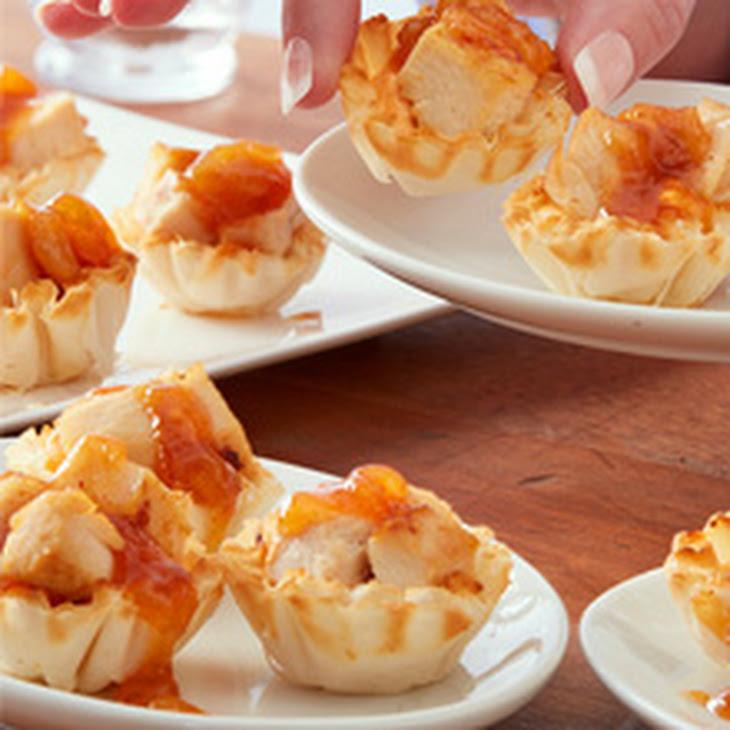 Spicy Chicken Chutney and Cream Cheese Appetizer Tarts Recipe