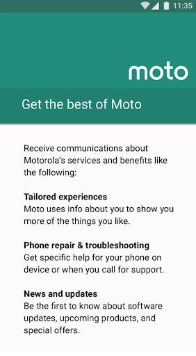 Motorola Notifications Varies with device screenshots 1