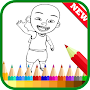 Coloring Upin Book Ipin Pages APK icon
