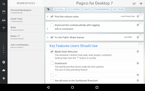 Pagico Plus- screenshot thumbnail