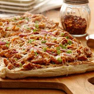Easy BBQ Chicken Pizza.