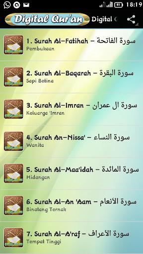 Digital Qur'an 30 Juz