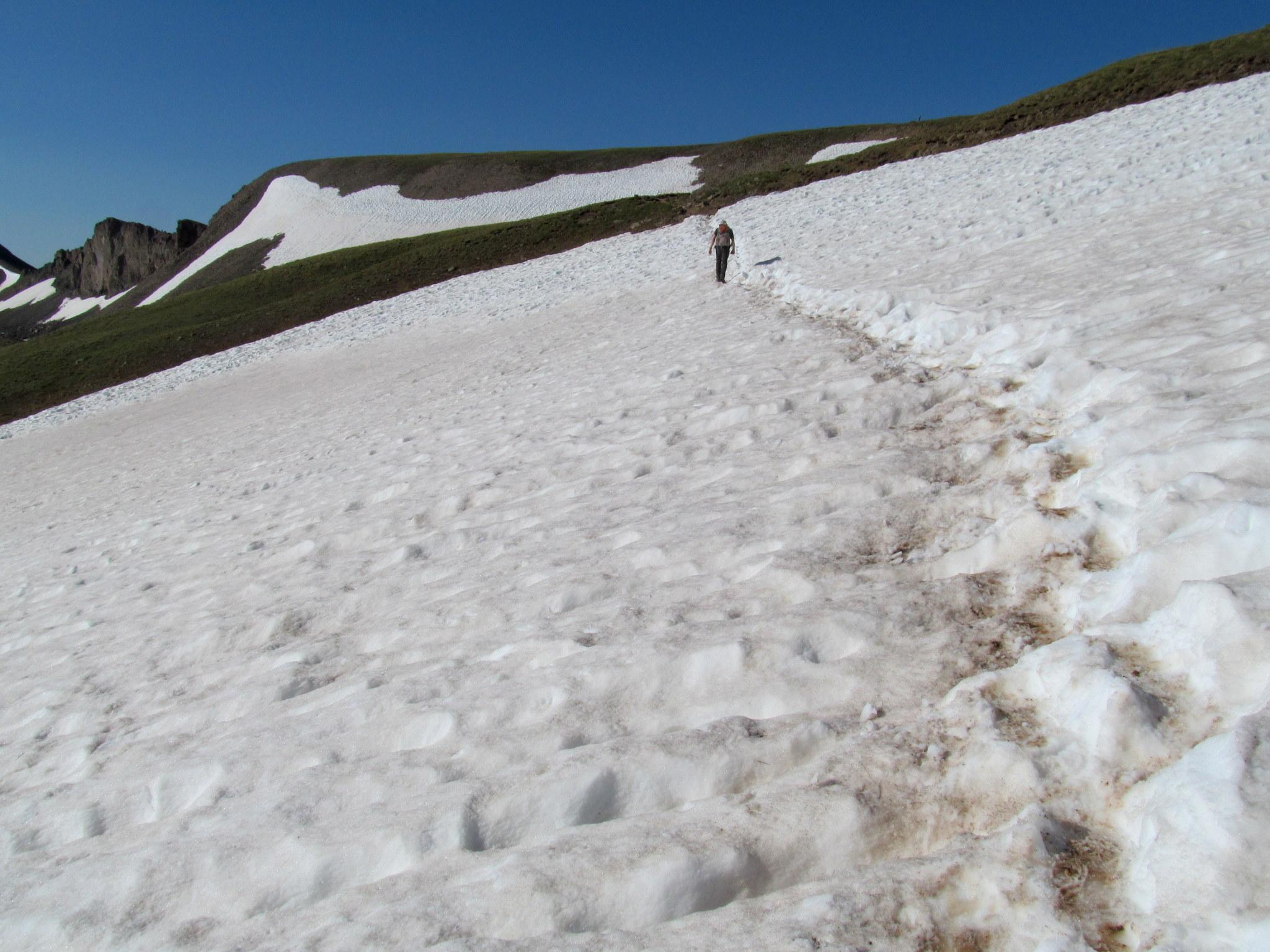 Photo: Crossing a snow field