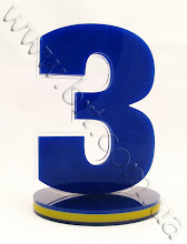 Photo: Настольная табличка с номером - акрил 3-х цветов