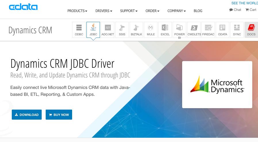 DynamicsCRMJDBCドライバ