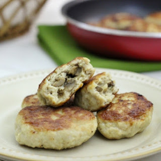 Chicken Kotleti With Mushroom Stuffing