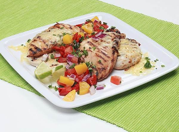 Grilled Chicken With Salsa. Low Fat-full Flavor.
