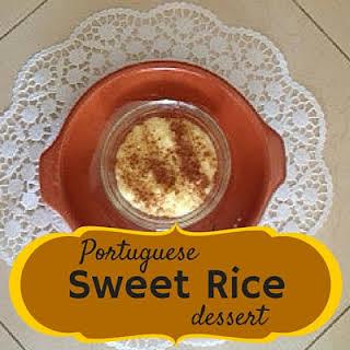 Portuguese Sweet Rice Dessert.