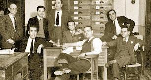 Antiguos redactores que daban vida a las páginas del periódico más veterano de la provincia.