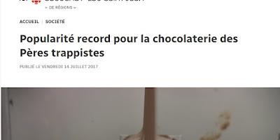 Popularité record pour la Chocolaterie des Pères