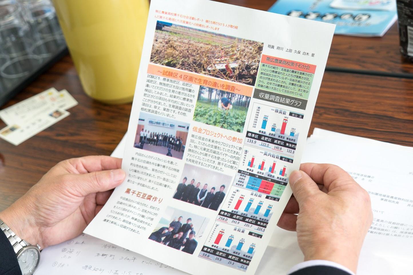 北海道帯広農業高校黒千石分会レポート
