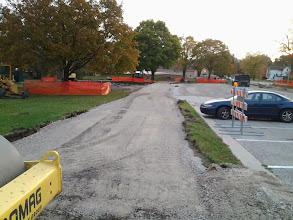 Photo: Gravel base of new path 10-29-2013