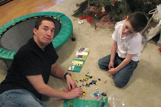 Photo: Putting together lego sets from Christmas