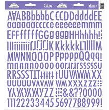 Doodlebug Skinny Cardstock Alpha Stickers - Lilac