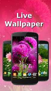 Live Wallpaper - Flowers screenshot 1