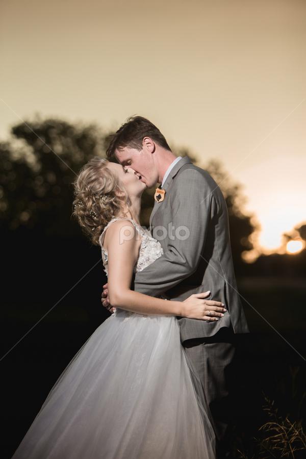 Kiss by Lood Goosen (LWG Photo) - Wedding Bride & Groom ( bride, love, wedding dress, couple, groom, wedding photographer, wedding photography, wedding couple, bride groom, weddings, wedding day, wedding photographers, brides, kiss, bride and groom, sunset, wedding )