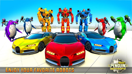 Penguin Robot Car Game: Robot Transforming Games screenshots 17