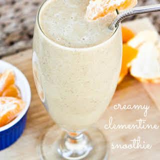 Creamy Clementine Smoothie.