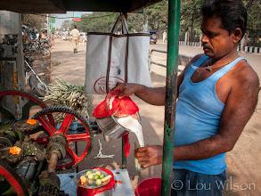 Photo: Sugar Cane Juice Man Bhubaneswar India
