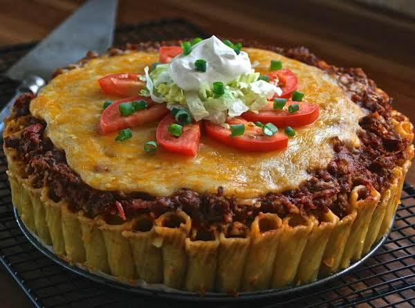 Wholly Hot Tamale! Mexican Rigatoni Pasta Pie!