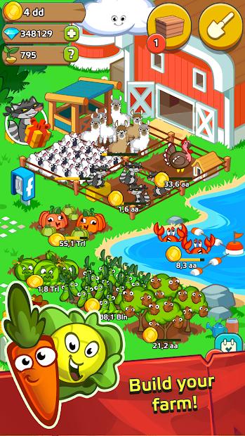 Farm and Click - Idle Farming Clicker Android App Screenshot