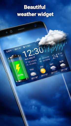 Weather Widget & Battery Checker  screenshots 1
