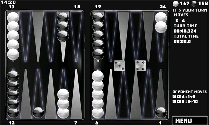 Backgammon Game (16 Games included)- screenshot