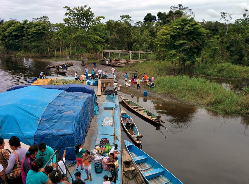 Boat Unloading - Amazon River