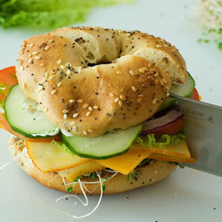 Veggie and Cheese Bagel Sandwich.