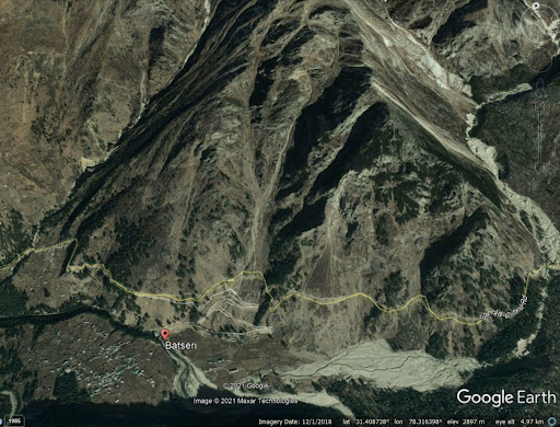 The rockslide at Batseri in India