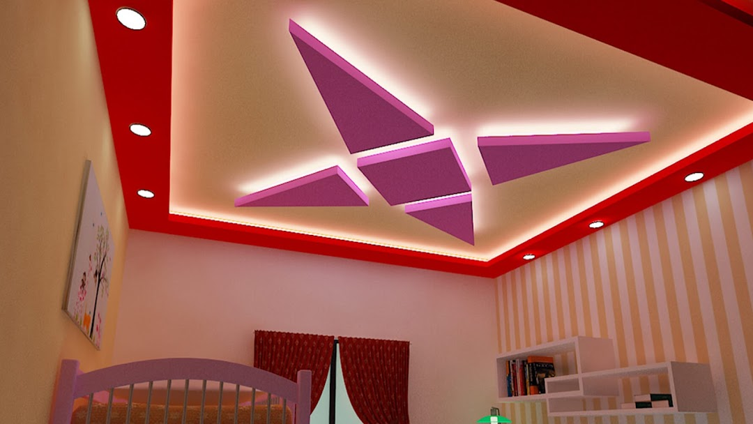 Design Point Wallpaper Shop In Kanpur False Ceiling