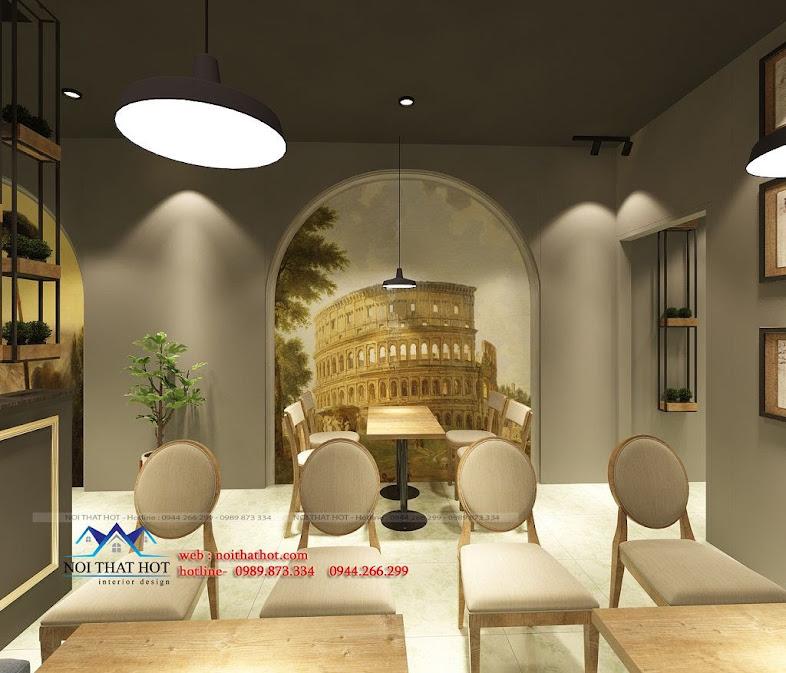 thiết kế quán cafe trang trọng