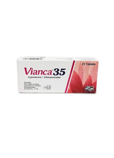 Ciproterona+Etinilestradiol Vianca 2/0,035mg x 21 Tabletas