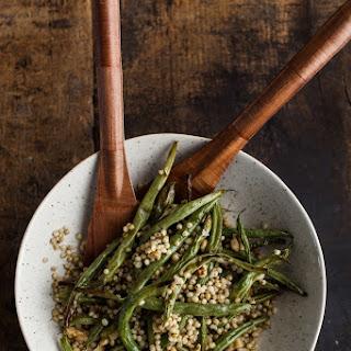 Garlic Green Beans with Sorghum and Walnuts