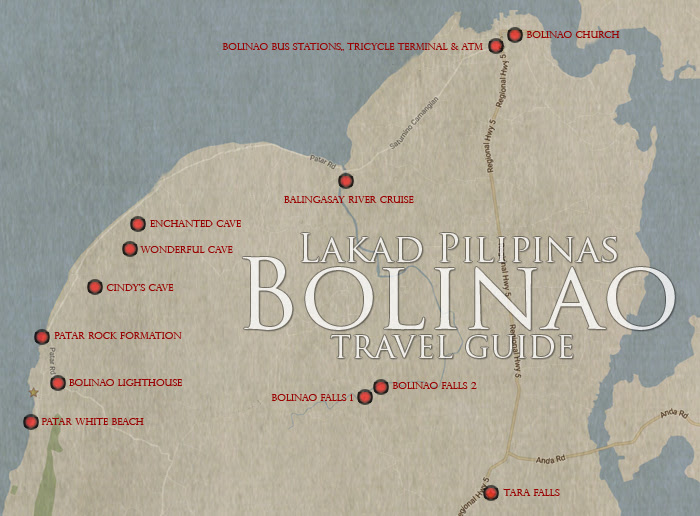 Bolinao Tourist Spots Map