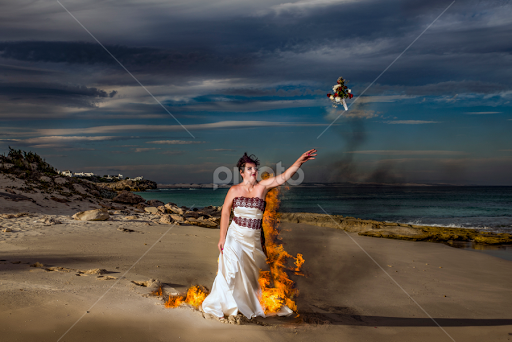 Trash the dress on fire are not
