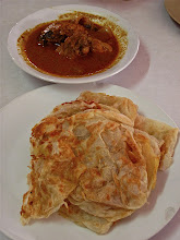 Photo: chicken curry and plain rotis